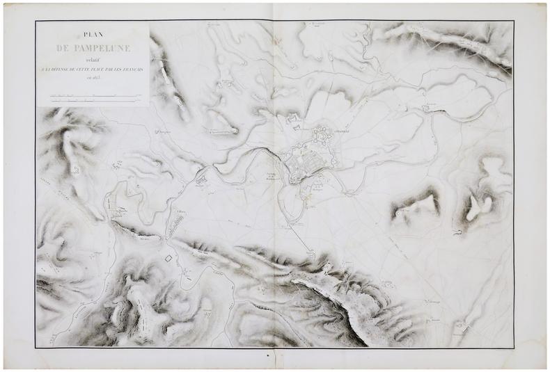 [PAMPELUNE] Plan de Pampelune relatif à la défense de cette place par les Français en 1813.. BELMAS (Jacques-Vital) & TARDIEU (Ambroise).