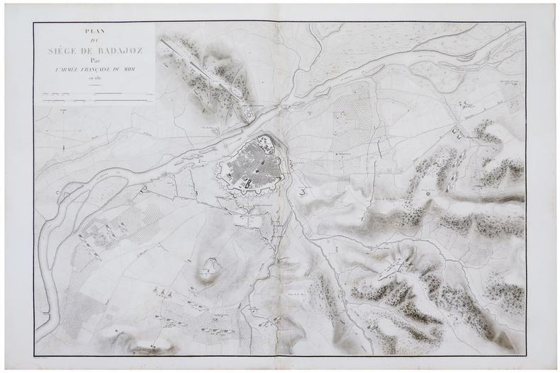 [BADAJOZ] Plan du siège de Badajoz par l'armée française du Midi en 1811.. BELMAS (Jacques-Vital) & TARDIEU (Ambroise).