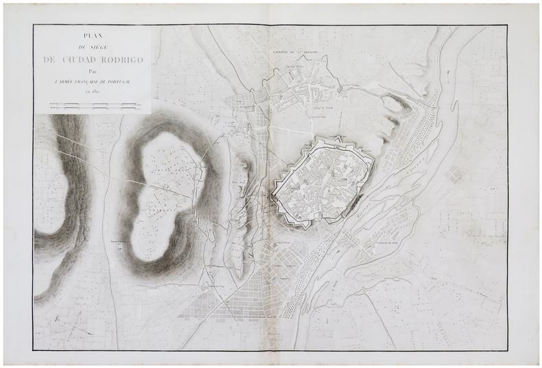 [CIUDAD RODRIGO] Plan du siège de Ciudad Rodrigo par l'armée française de Portugal en 1810.. BELMAS (Jacques-Vital) & TARDIEU (Ambroise).