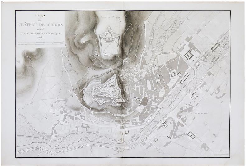 [BURGOS] Plan du château de Burgos relatif à la défense faite par les Français en 1812.. BELMAS (Jacques-Vital) & TARDIEU (Ambroise).