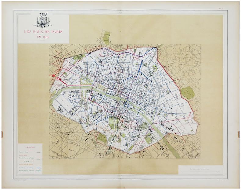 [EAUX de PARIS] Les Eaux de Paris en 1854.. ALPHAND (Jean-Charles Adolphe) & FAUVE (L.).