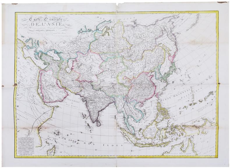 Carte générale de l'Asie, où se trouvent les découvertes faites par Bougainville, Dampierre et La Pérouse.. HERISSON (Eustache).