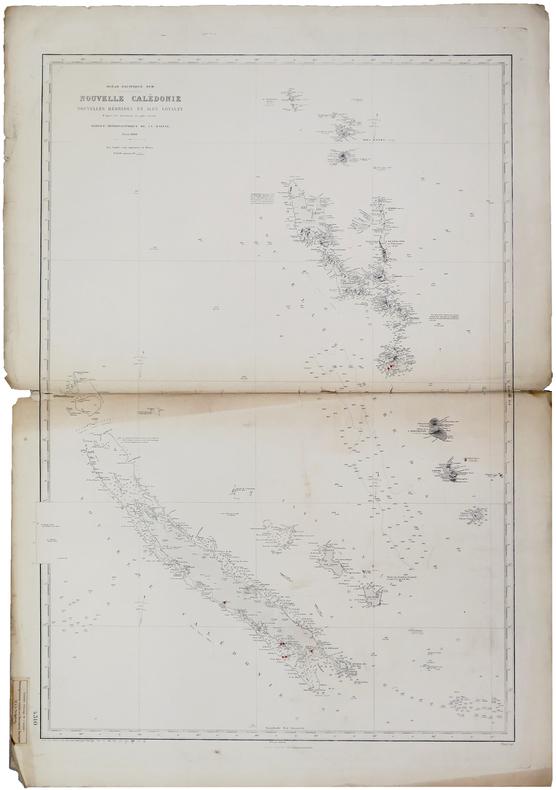 [NOUVELLE-CALÉDONIE] Océan Pacifique Sud. Nouvelle Calédonie, Nouvelles Hébrides et îles Loyalty.. SERVICE HYDROGRAPHIQUE DE LA MARINE.