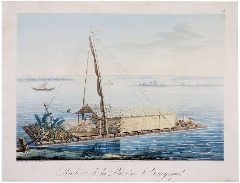 [ÉQUATEUR/GUAYAQUIL] Radeau de la rivière de Guayaquil.. HUMBOLDT (Frédéric-Henri-Alexandre, baron de).