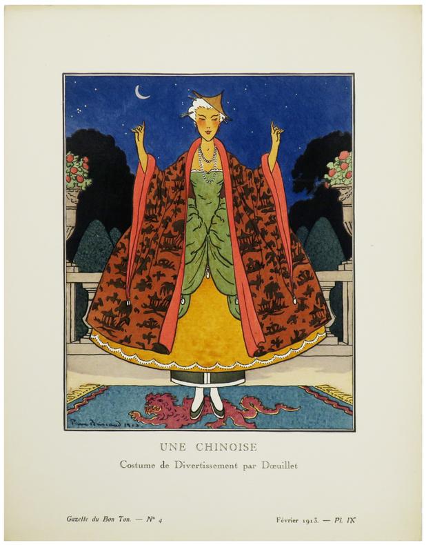 Une Chinoise. Costume de divertissement par Dœuillet.. GAZETTE du BON TON & BRISSAUD (Pierre).