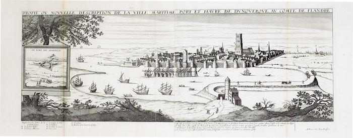 [DUNKERQUE] Profil ou nouvelle description de la ville maritime port et havre de Dunquerque, au comté de Flandre.. BOISSEAU (Jean).