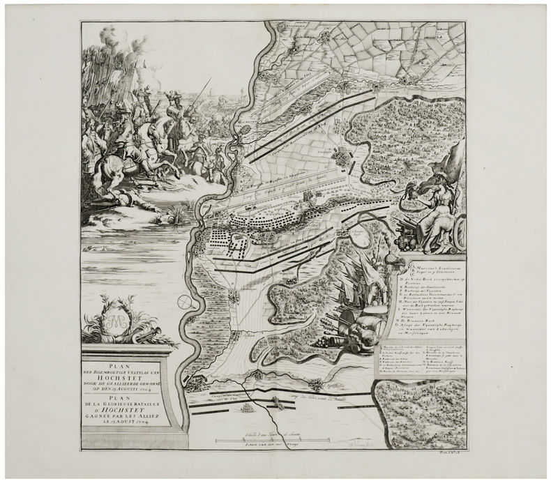 [HÖCHSTÄDT] Plan der roemrugtige veltslag van Hochstet door de geallieerde gewonne op den 13 augusti 1704 - Plan de la glorieuse bataille d'Hochstet ...