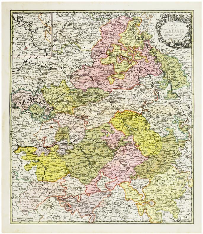 [CHAMPAGNE] Le Gouvernement de Champagne i. e. Præfectura generalis Campaniæ in electiones suas divisa.. SEUTTER (Matthaeus).
