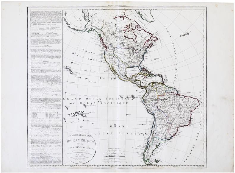 Carte générale de l'Amérique divisée en ses principaux états.. DELAMARCHE (Félix).