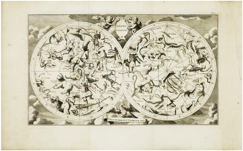 Globe céleste. Cœli enarrant Gloriam Dei.. AA (Pieter van der).