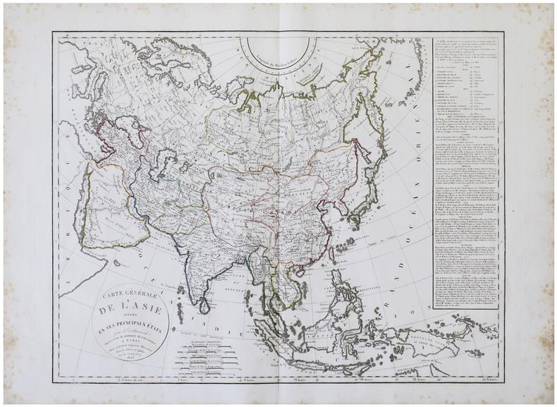Carte générale de l'Asie divisée en ses principaux états.. DELAMARCHE (Félix).