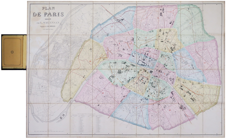 Plan de Paris.. SAGANSAN (L.).