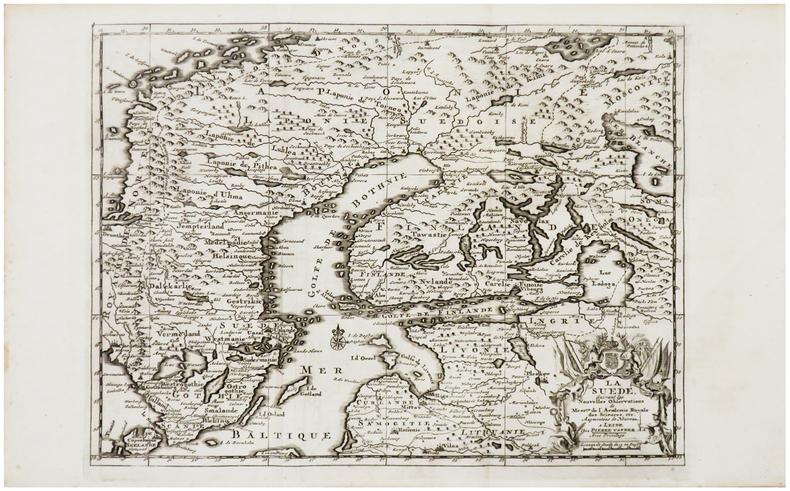 [SUÈDE] La Suède.. AA (Pieter van der).
