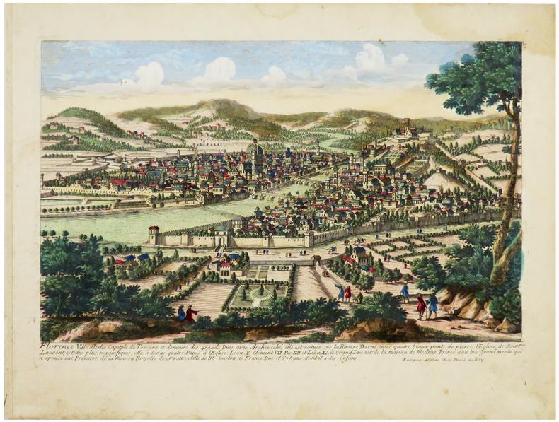 [FLORENCE] Florence ville d'Italie capitale de Toscane et demeure des grands Ducs.. AVELINE (Pierre).