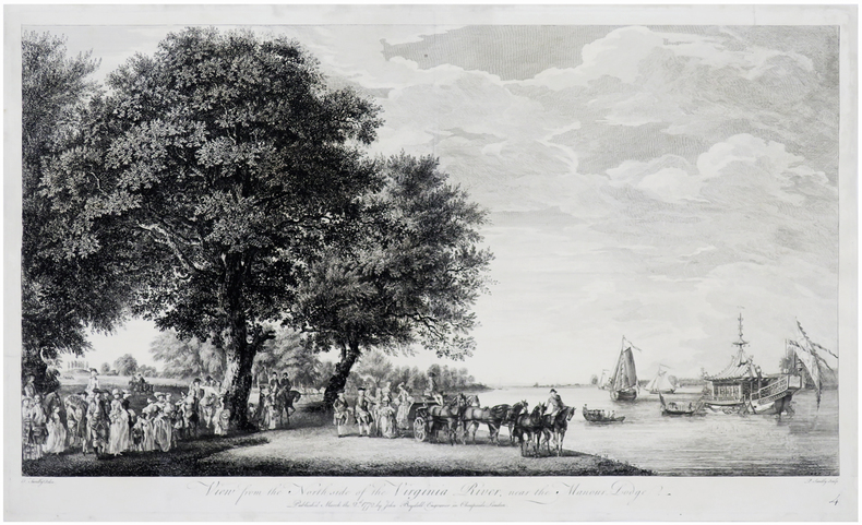 [GRAND PARC de WINDSOR] View from the north side of the Virginia river, near the Manour Lodge.. SANDBY (Thomas) & SANDBY (Paul).