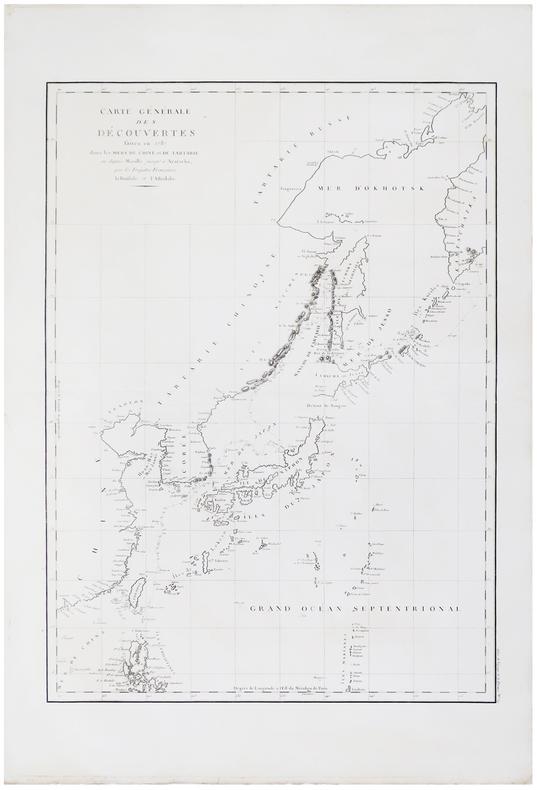 Carte générale des découvertes faites en 1787 dans les mers de Chine et de Tartarie, ou depuis Manille jusqu'à Avatscha, par les frégates françaises ...