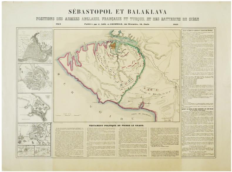 [CRIMÉE] Sébastopol et Balaklava. Positions des armées anglaise, française et turque, et des batteries de siège.. NORMAND (Charles).