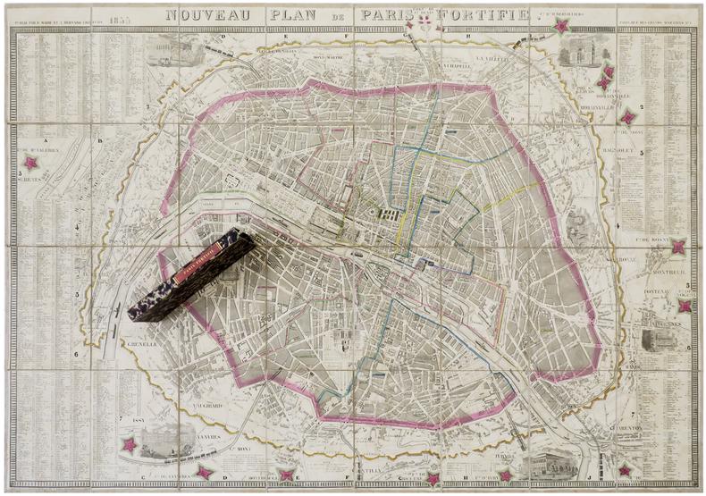 Nouveau plan de Paris fortifié.. MARIE (P.) & BERNARD (A.).