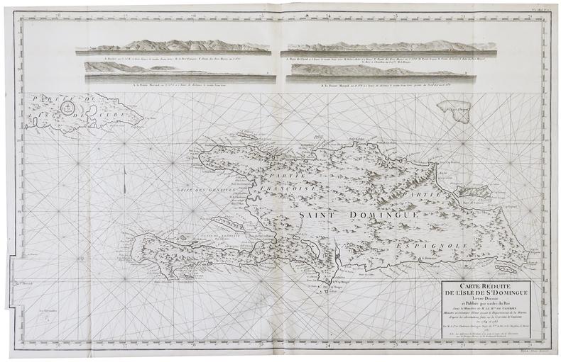 [SAINT-DOMINGUE] Carte réduite de l'isle de S.t Domingue.. DÉPÔT GÉNÉRAL DE LA MARINE.