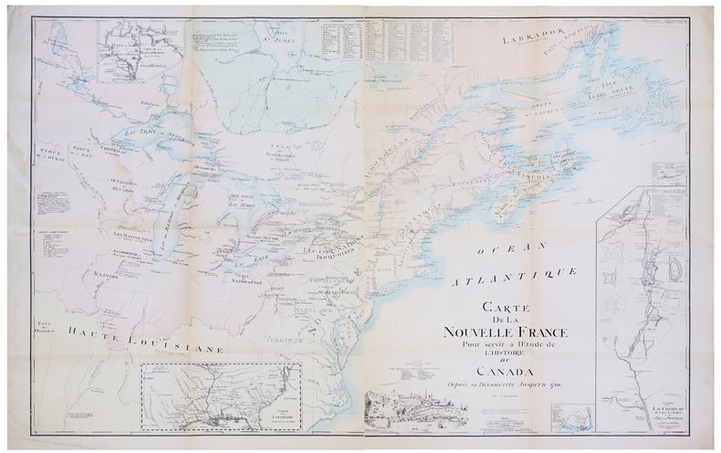 [NOUVELLE FRANCE] Carte de la Nouvelle France pour servir à l'étude de l'histoire du Canada depuis sa découverte jusqu'en 1760.. GENEST (P.M.A.).