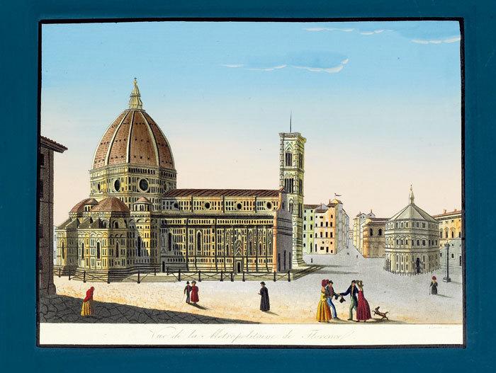 Vue de la métropolitaine de Florence.. CAROCCI (Giuseppe);