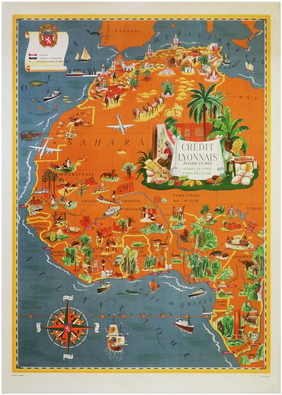 Crédit Lyonnais fondé en 1863. Afrique du Nord & Union Française.. BOUCHER (Lucien).