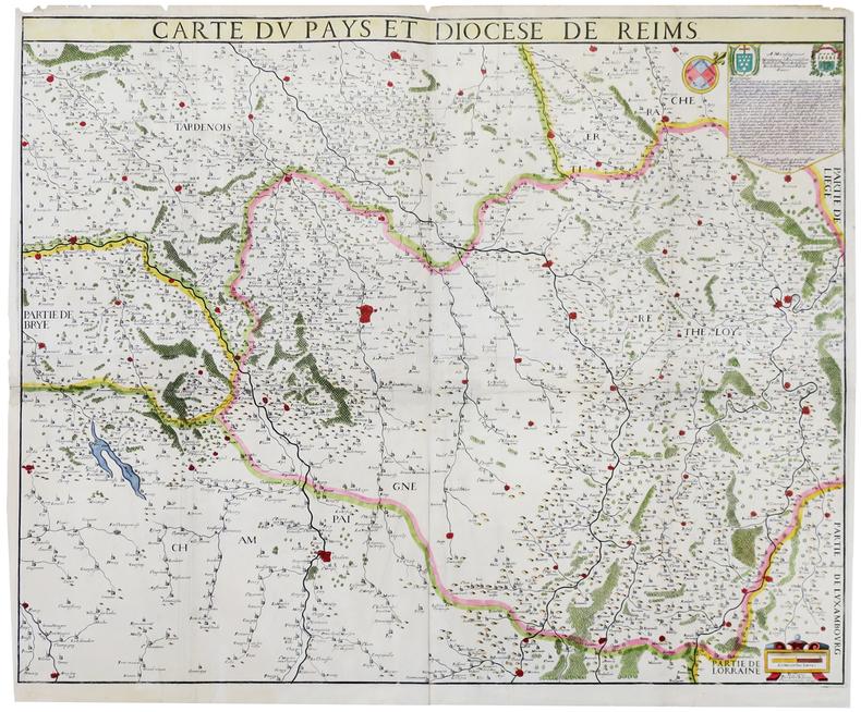 [REIMS] Carte du pays et diocèse de Reims.. JUBRIEN (Jean).