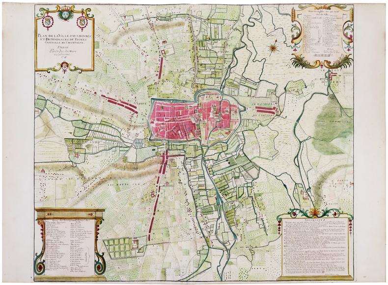 [TROYES] Plan de la ville, fauxbourgs et dépendances de Troyes capitalle de Champagne.. DESBOIS (Martial).