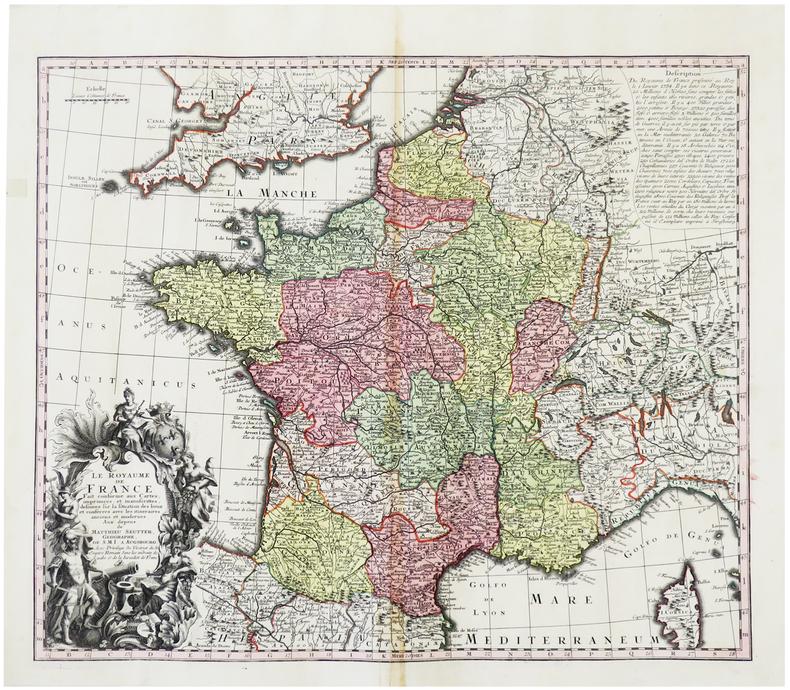 Le Royaume de France.. SEUTTER (Matthäus).