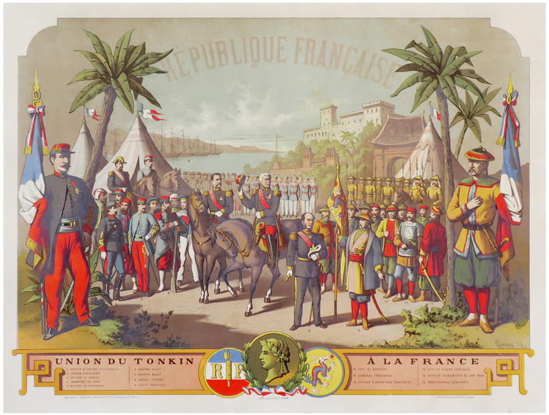 [VIETNAM/TONKIN] République Française. Union du Tonkin à France.. CONRAD (F.).