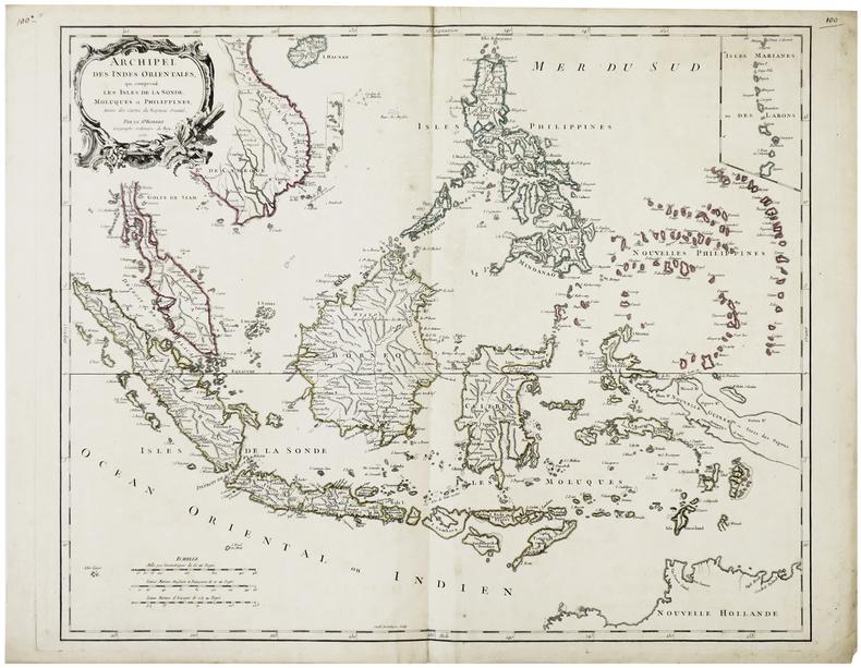 Archipel des Indes Orientales, qui comprend les isles de la Sonde, Moluques et Philippines.. ROBERT de VAUGONDY (Didier).