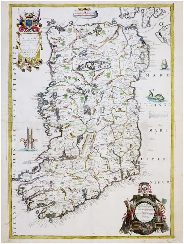 [IRLANDE] Parte settentrionale dell'Irlanda - Irlanda parte meridionale.. CORONELLI (Vincenzo).