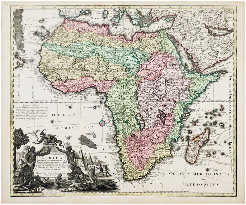 Africa juxta navigationes et observationes recentissimas aucta correcta et in sua regna et status divisa, in lucem edita.. SEUTTER (Matthäus).