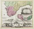[ANDALOUSIE/GIBRALTAR] Accurata designatio celebris freti prope Andalusiæ Castellum Gibraltar inter in Europam et Africam, cum circumjacentibus ...