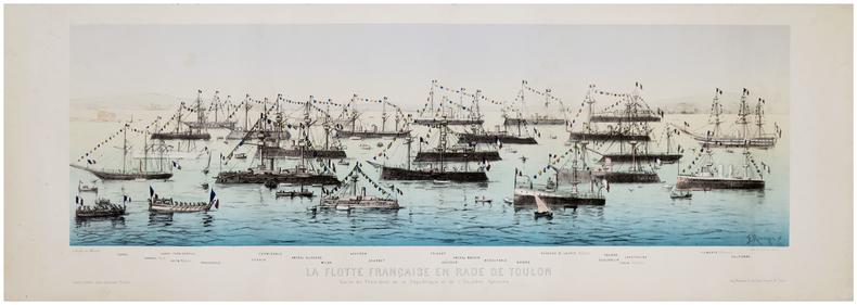 [TOULON] La Flotte française en rade de Toulon. Visite du Président de la République et de l'escadre italienne.. MANOYER (François).