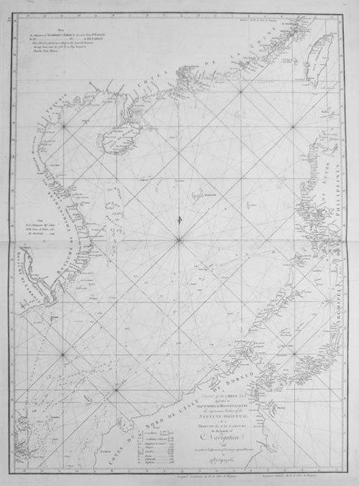 A chart of the China sea.. APRES de MANNEVILLETTE (Jean-Baptiste-Nicolas-Denis d').