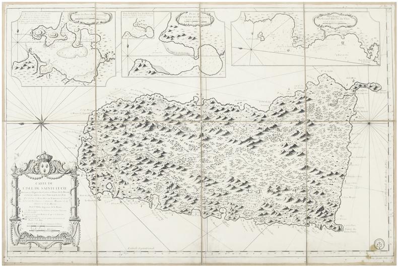 [SAINTE-LUCIE] Carte de l'isle de Sainte Lucie.. BELLIN (Jacques-Nicolas).