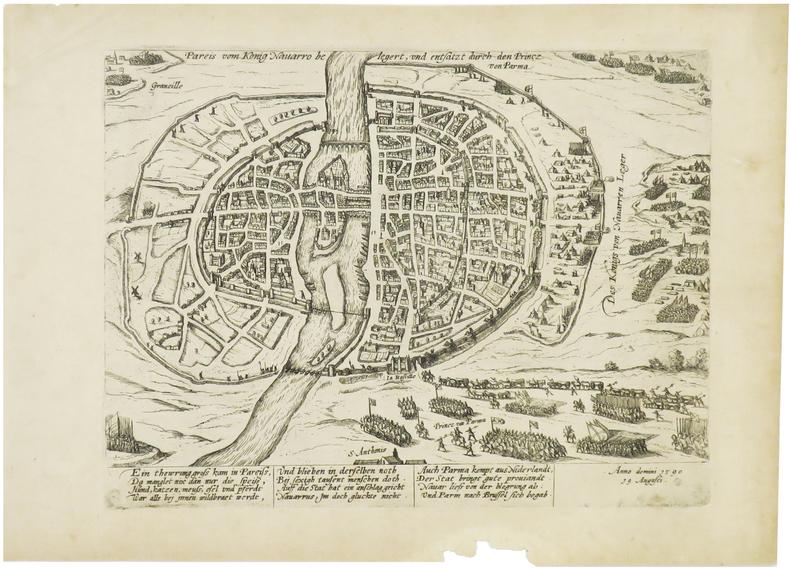 Pareis vom Konig Navarro belegert, und entsatz durch den Princz von Parma. Anno domini 1590 19 Augusti.. [ANONYME].