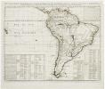 Nouvelle carte de géographie de la partie méridionale de l'Amérique suivant les plus nouvelles observations avec des tables et des remarques pour ...
