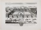 [FONTAINEBLEAU] Veuë et perspective du château de Fontainebleau du côté de l'entrée de la Cour du Cheval Blanc.. AVELINE (Antoine).