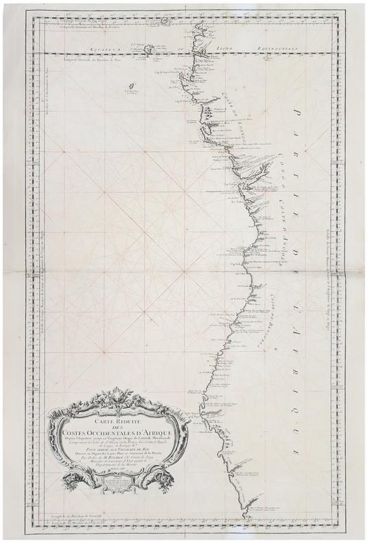 [GABON/CONGO/ANGOLA/NAMIBIE] Carte réduite des costes occidentales d'Afrique, depuis l'équateur jusqu'au vingtième degré de latitude méridionale ...