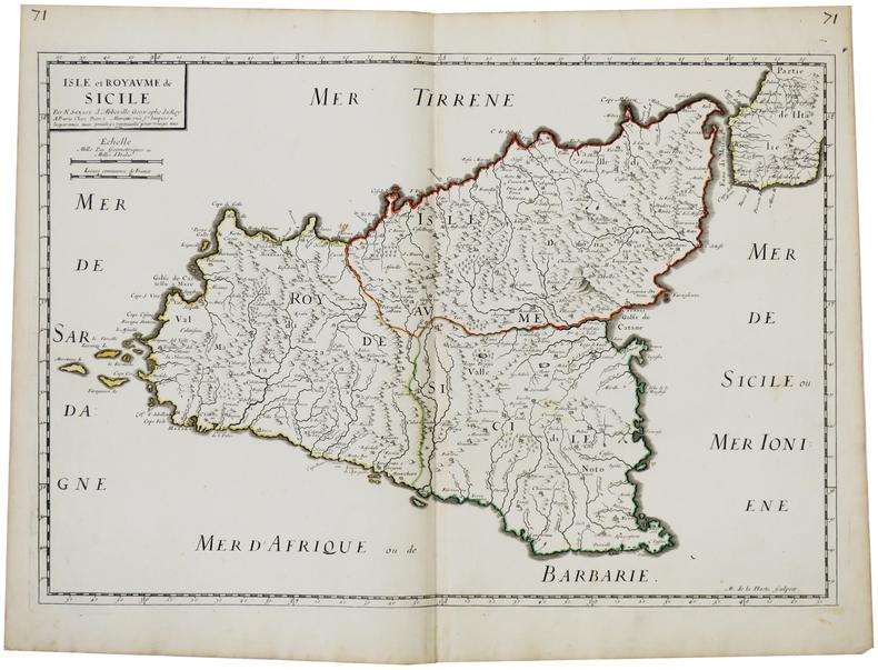 Isle et royaume de Sicile.. SANSON d'ABBEVILLE (Nicolas).