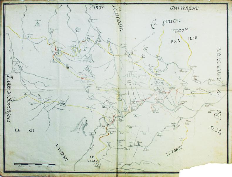 Carte d'Auvergne.. [ANONYME].