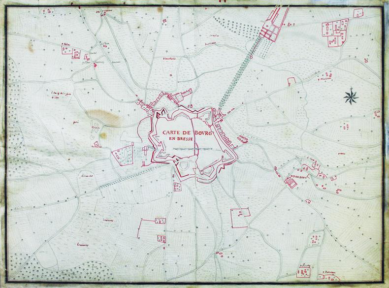 Carte de Bourg en Bresse.. [ANONYME].