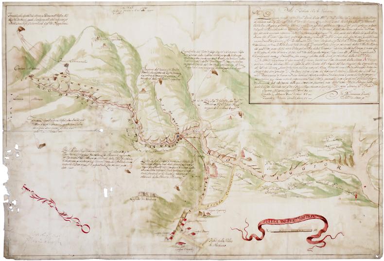 [Plan d'une partie de la ville de Meduno et ses environs].. PICCOLI (Domenico).