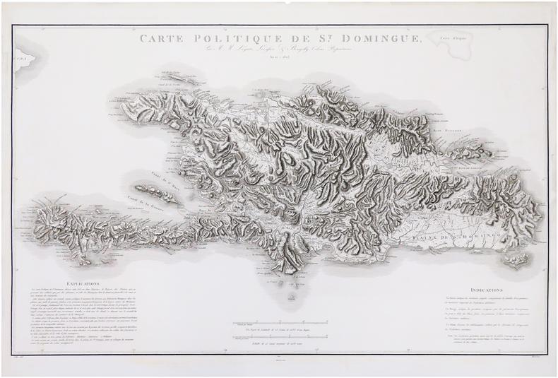 [SAINT-DOMINGUE] Carte politique de S.t Domingue, par M.M. Leyritz, Levassor & Bourjolly, colons-propriétaires.. LEVASSOR & LEYRITZ & BOURJOLLY.