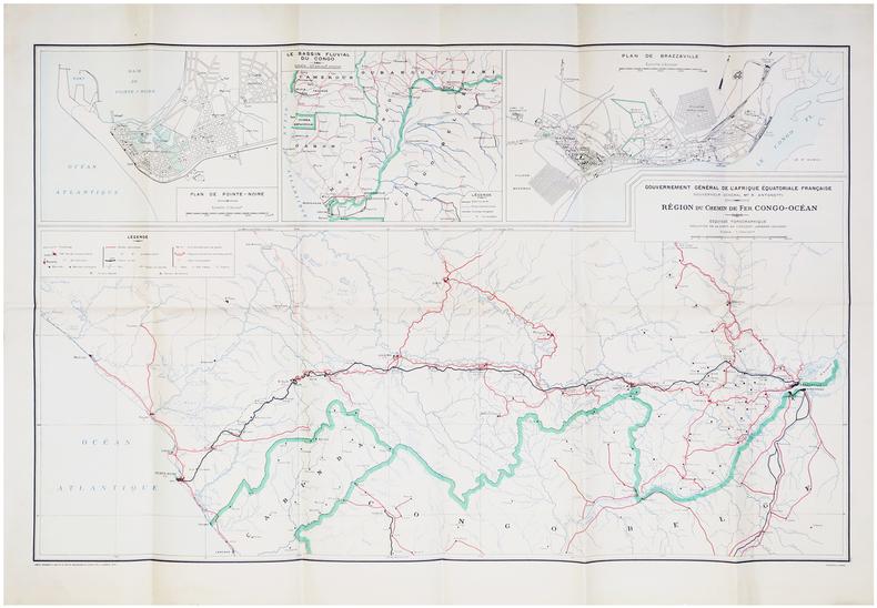[RÉPUBLIQUE du CONGO] Gouvernement général de l'Afrique Équatoriale Française. Gouverneur général M.r R. Antonetti. Région du chemin de fer ...