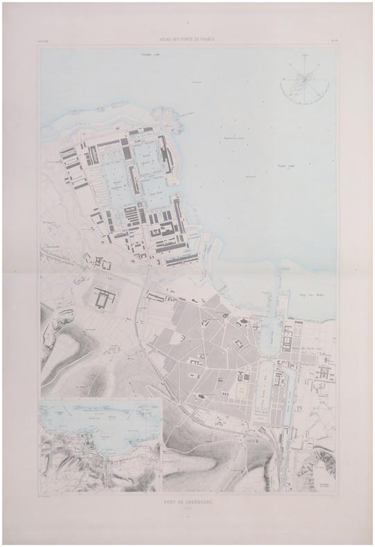 [CHERBOURG] Port de Cherbourg.. ATLAS des PORTS de FRANCE.