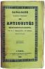 Catalogue raisonné et historique des antiquités découvertes en Égypte.. PASSALACQUA (Giuseppe).