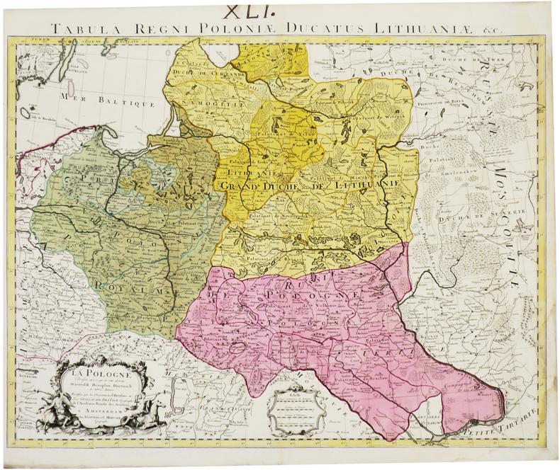 La Pologne - Tabula regni Poloniæ Ducatus Lithuaniæ &c.. L'ISLE (Guillaume de).